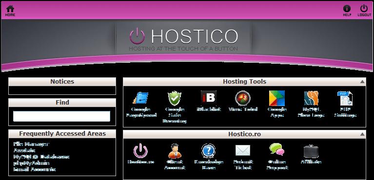 cPanel Hostico